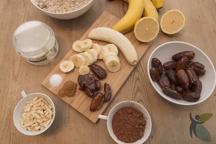 Zutaten für den veganen Schokokuchen