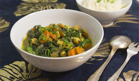 Kichererbsen-Karotten-Curry